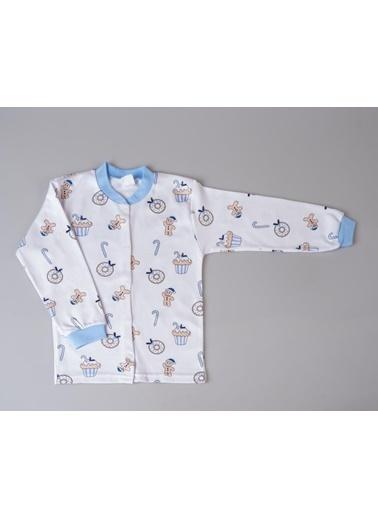 POKY Çocuk Pijama Takımı 3-6 Yaş Çıtçıtlı Uzun Kol Karışık Renk Ve Desenli Mavi